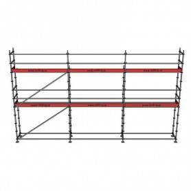 Paket 6 x 9 m 73 cm stålplank
