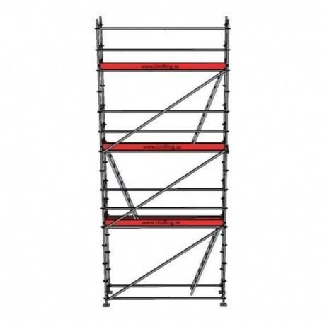 Paket 8 x 3 m 73 cm stålplank