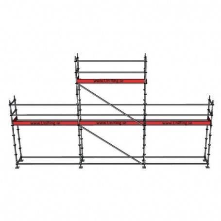 Paket 4 + 6 x 9 m 109 cm stålplank