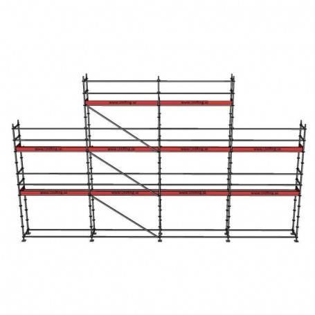 Paket 6 + 8 x 12 m 73 cm stålplank