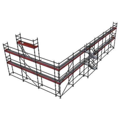 Halva villan 148m2 Paket 8 x 24 m 73 cm stålplank