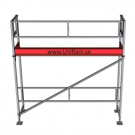 UniRam Alu Paket 4 x 3 m 73 cm stålplank