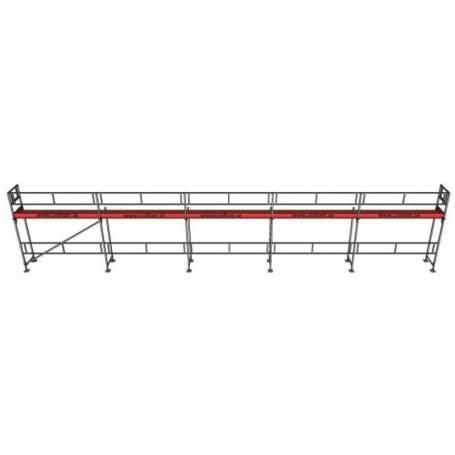 UniRam Alu Paket 4 x 15 m 73 cm stålplank