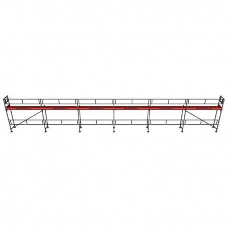 UniRam Alu Paket 4 x 18 m 73 cm stålplank