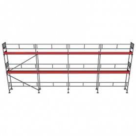 UniRam Alu Paket 6 x 12 m 73 cm stålplank