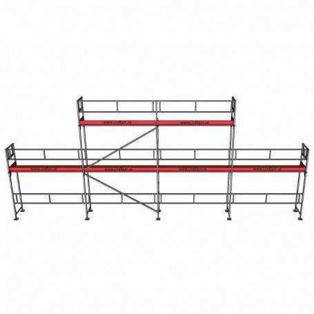 UniRam Alu Paket 4 + 6 x 12 m 73 cm stålplank