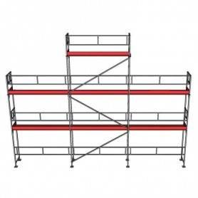 UniRam Alu Villapaket 3R 4 + 6 + 8 x 15 m 73 cm stålplank