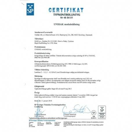 Unihak Trappräcke till stål trappor 8000-051 Byggnadsställningar