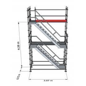 Trapptorn till Modulställning 4 m - Uniring