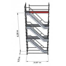 Trapptorn till Modulställning 6 m - Uniring